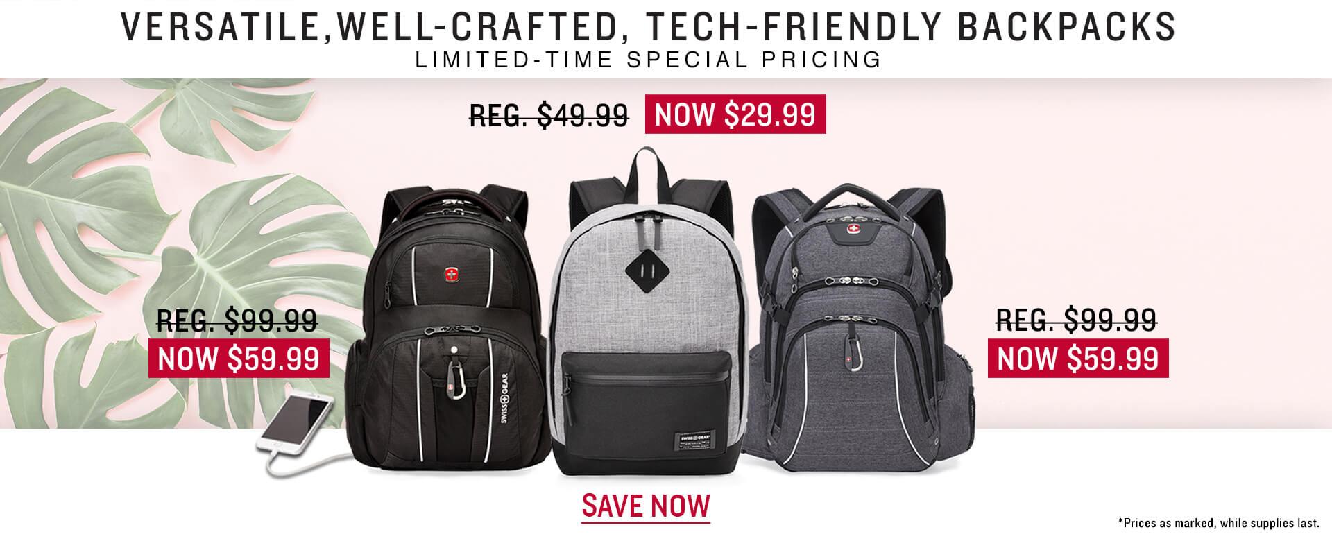 SWISSGEAR Backpacks On Sale!